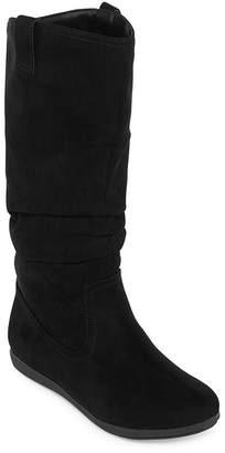 Arizona Womens Kerri Slouch Boots Flat Heel Pull-on