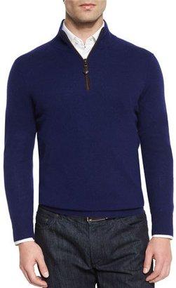 Neiman Marcus Nano-Cashmere 1/4-Zip Pullover $395 thestylecure.com
