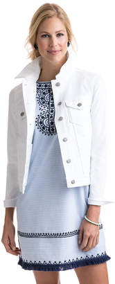 Vineyard Vines White Denim Jacket