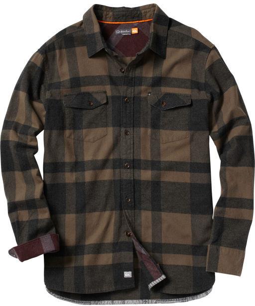 Quiksilver Men's Beacon Point Long Sleeve Flannel Shirt