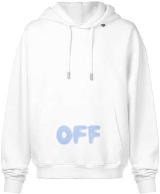 Off-White blurred logo print hoodie