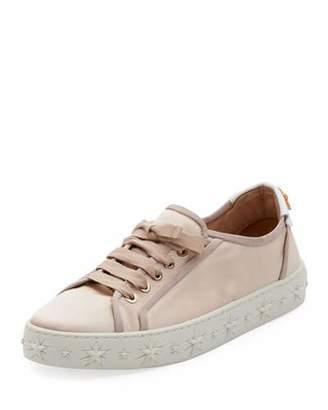 Aquazzura L.A. Satin Star-Platform Sneakers