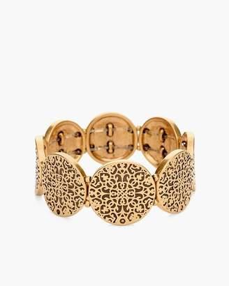 Textured Gold-Tone Stretch Bracelet