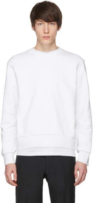 White Stripe Crewneck Sweatshirt
