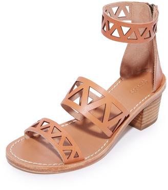 Soludos Geo Laser Cut Mid Heel Sandals $159 thestylecure.com