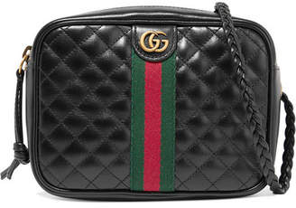 Gucci Mini Quilted Leather Shoulder Bag - Black