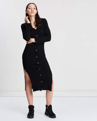 Topshop Button Knitted Dress