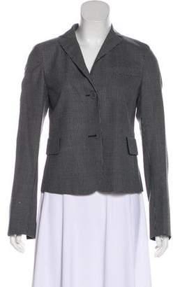 Akris Punto Wool & Silk-Blend Polka Dot Blazer