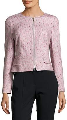 Basler Women's Printed Cotton Zipper Jacket