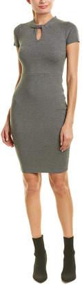 Milly Twist Neck Sheath Dress