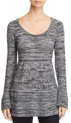 Heather B Marled Tunic Sweater