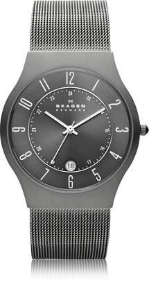 Skagen Grenen Steel Mesh and Titanium Case Men's Watch