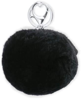 Adrienne Landau Rabbit Fur Pom-Pom Key Ring