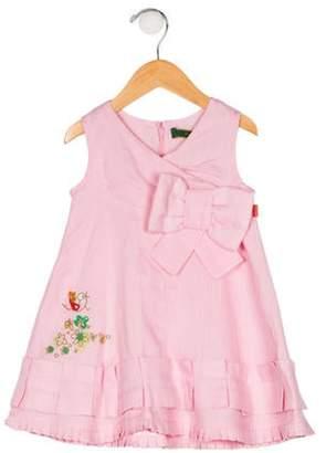 Oilily Girls' Sleeveless Linen Dress pink Girls' Sleeveless Linen Dress