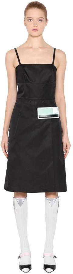 Rubber Logo Nylon Gabardine Dress