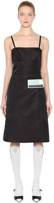 Prada Rubber Logo Nylon Gabardine Dress