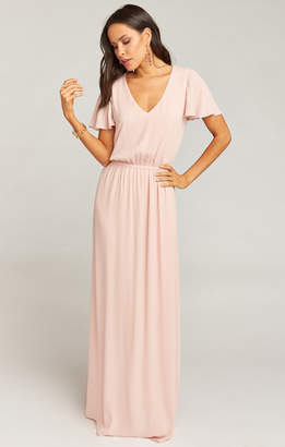 Show Me Your Mumu Michelle Flutter Maxi Dress ~ Dusty Blush Crisp