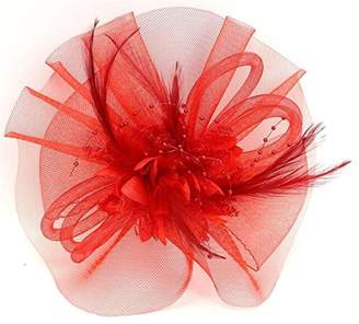 Yiweir Women Veil Hair Accessory Fascinator Headband Wedding Party Derby
