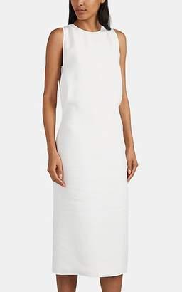 Helmut Lang Women's Crepe Slit-Back Shift Dress - White