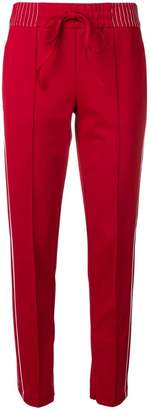 Cambio side stripes slim fit trousers