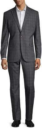 Kenneth Cole Men's Plaid Wool Suit