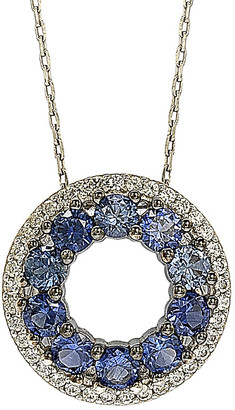 LeVian Suzy Diamonds Suzy Silver 2.02 Ct. Tw. Sapphire Necklace