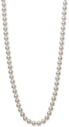 "Belle de Mer Bell de Mer Cultured Akoya Pearl (7-7-1/2mm) 20"" Pearl Necklace in 14k Gold"