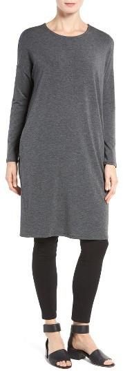 Women's Eileen Fisher Stretch Tencel Jersey Shift Dress