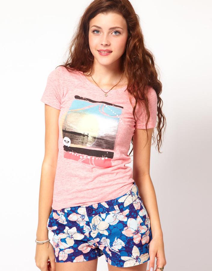 Roxy Beach Scene T-Shirt