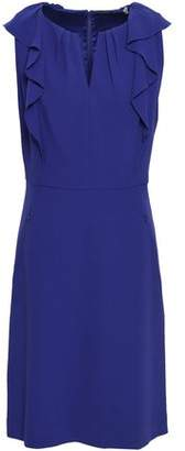 Elie Tahari Ruffle-trimmed Crepe Mini Dress