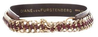 Diane von Furstenberg Leather Chain-Link Belt