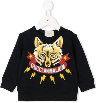 Gucci Kids Animalium wolf sweatshirt