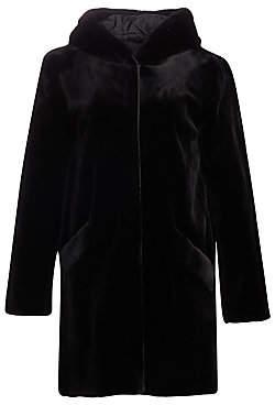 Norman Ambrose Women's Hooded Sheared Mink Coat