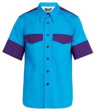 Calvin Klein Short Sleeved Cotton Shirt - Mens - Blue Multi