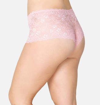 Avenue Pink Flower Cheeky Panty