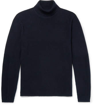 Folk Cotton-Blend Piqué Rollneck Sweater