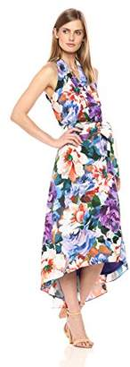 Chetta B Women's Tropical Print Halter Dress
