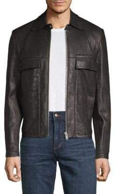 Maison Margiela L-Zip Leather Jacket