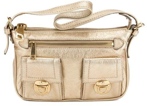 Marc By Marc Jacobs Marc Jacobs Gold Cammie Leather Handbag (Pre Owned)
