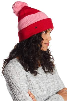 Kate Spade Colorblock Striped Beanie