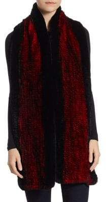 The Fur Salon Knit Rabbit Fur Stole