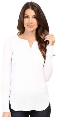 Mod-o-doc Supreme Jersey Split Henley Tee w/ Rib Trim Women's T Shirt
