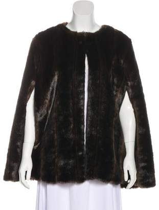 MICHAEL Michael Kors Collarless Faux Fur Cape