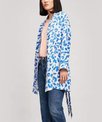 Acne Studios Alone Silk Print Shirt Dress