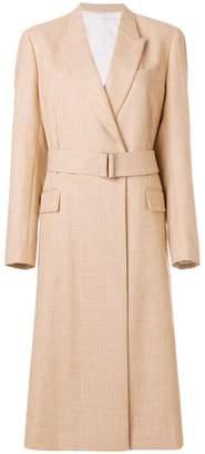 Victoria Beckham masculine belted coat