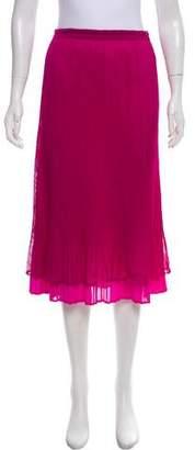 Pleats Please Issey Miyake Plissé Knee-Length Skirt