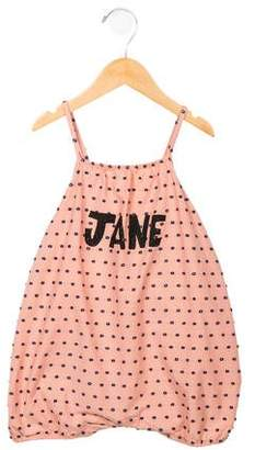 Bobo Choses Girls' Embroidered Jane All-In-One w/ Tags