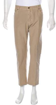 Borrelli Corduroy Flat Front Pants tan Borrelli Corduroy Flat Front Pants