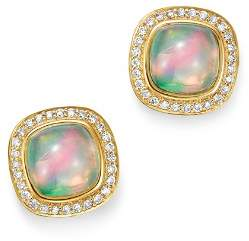 Bloomingdale's Ethiopian Opal & Diamond Stud Earrings in 14K Yellow Gold - 100% Exclusive