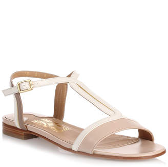Salvatore Ferragamo Gerry macadamia leather sandal